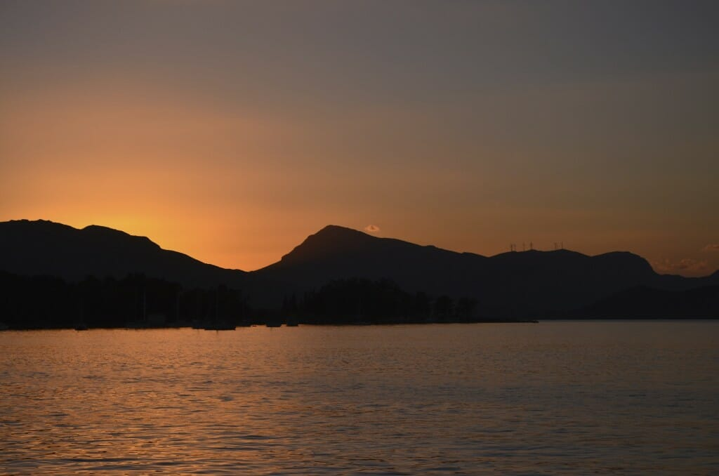Sunset anchored off Dhokos