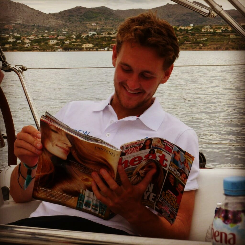 Theo getting into his heat magazine