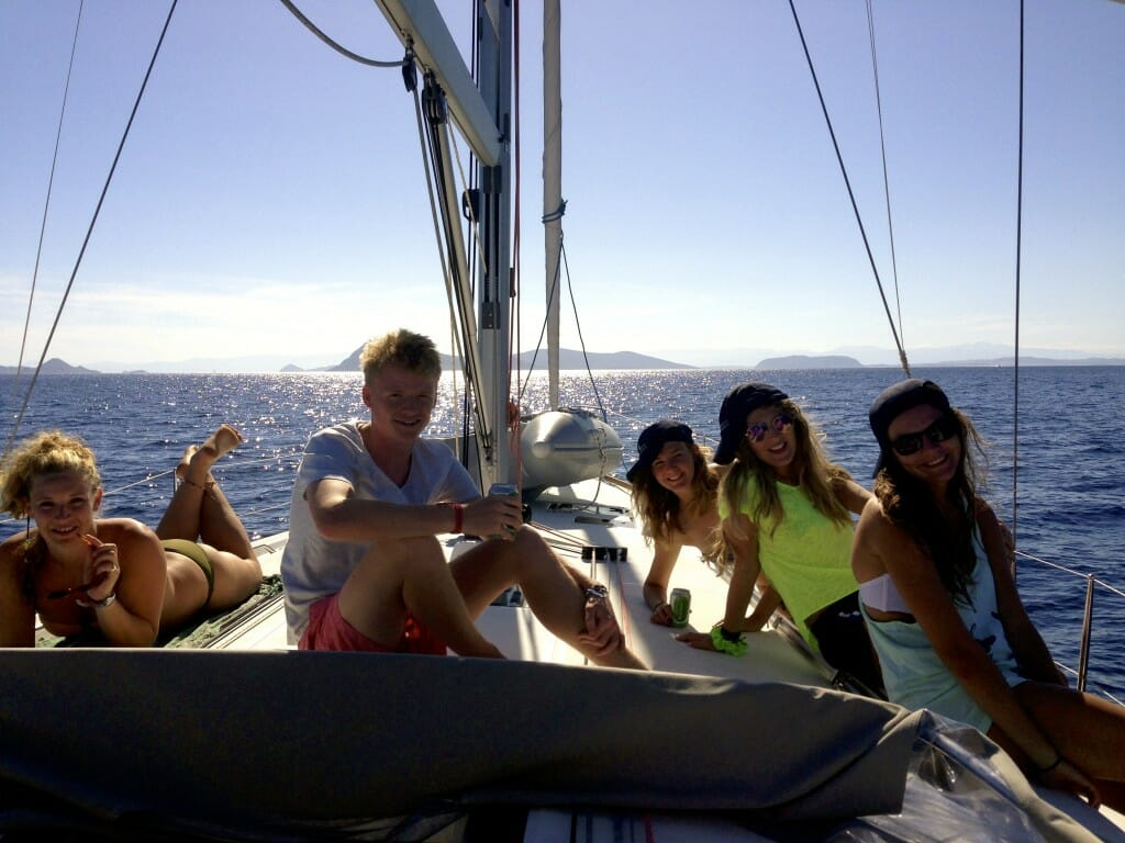 """""""Well Trained Crew!"""" After learning the ropes on Day 1, we put our skills into practice... and sunbathed!"""