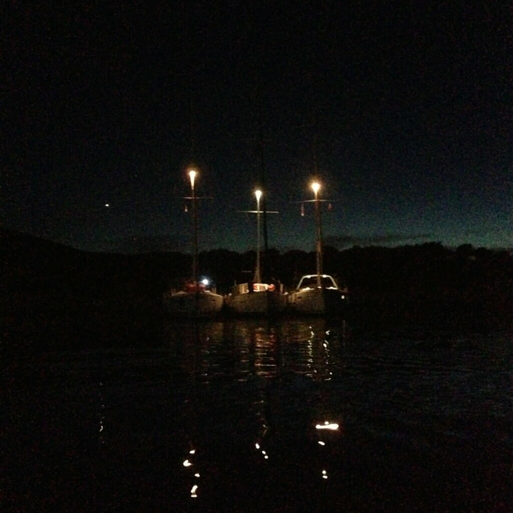The yachts - all rafted together overnight for the final night at sea of The Big Sail