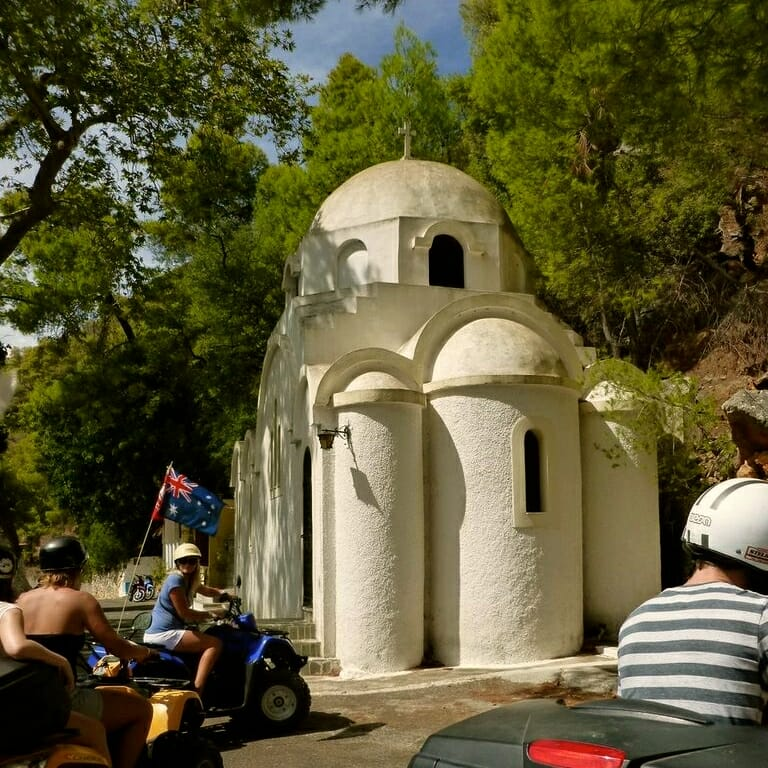 Sanctuary of Poseidon - Poros. A break from the yacht charter let us explore Poros by land